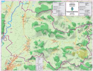 Harta Comunei Ernei