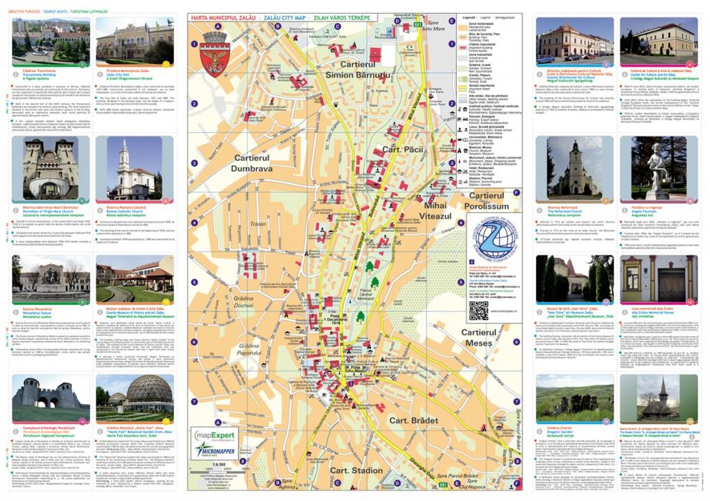 Zalău - Harta Turistică