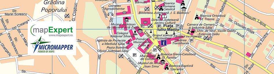 zalau_zilah-tourst-map