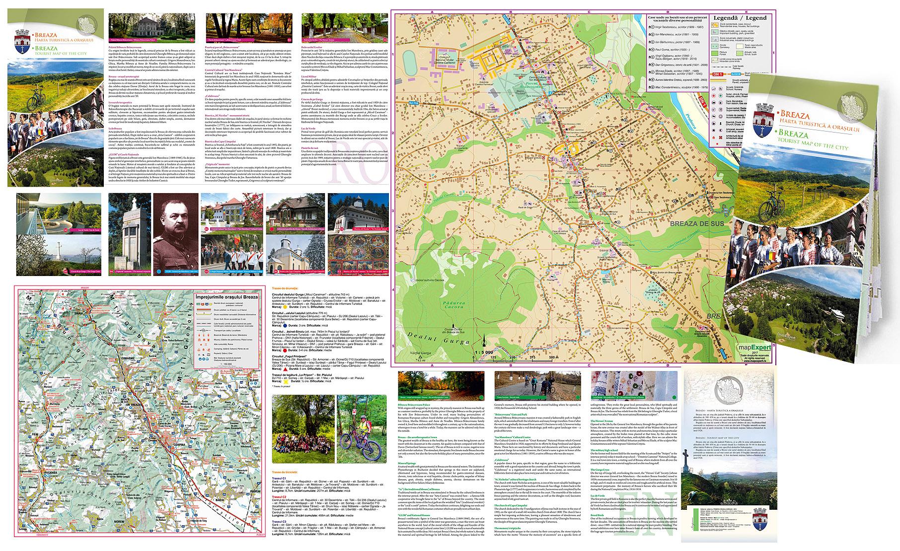 Harta Pliabilă Al Orașului Breaza Mapexpert Group