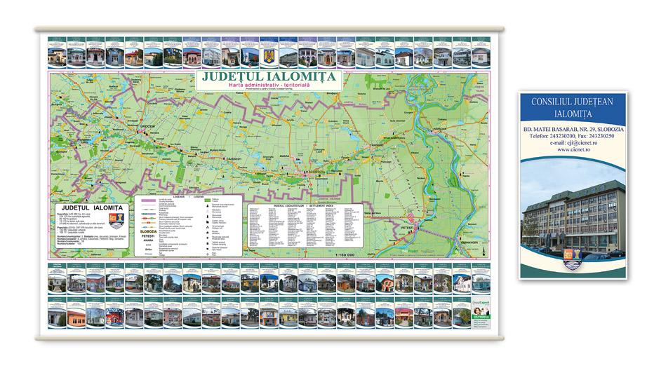 ialomita-harta judetului