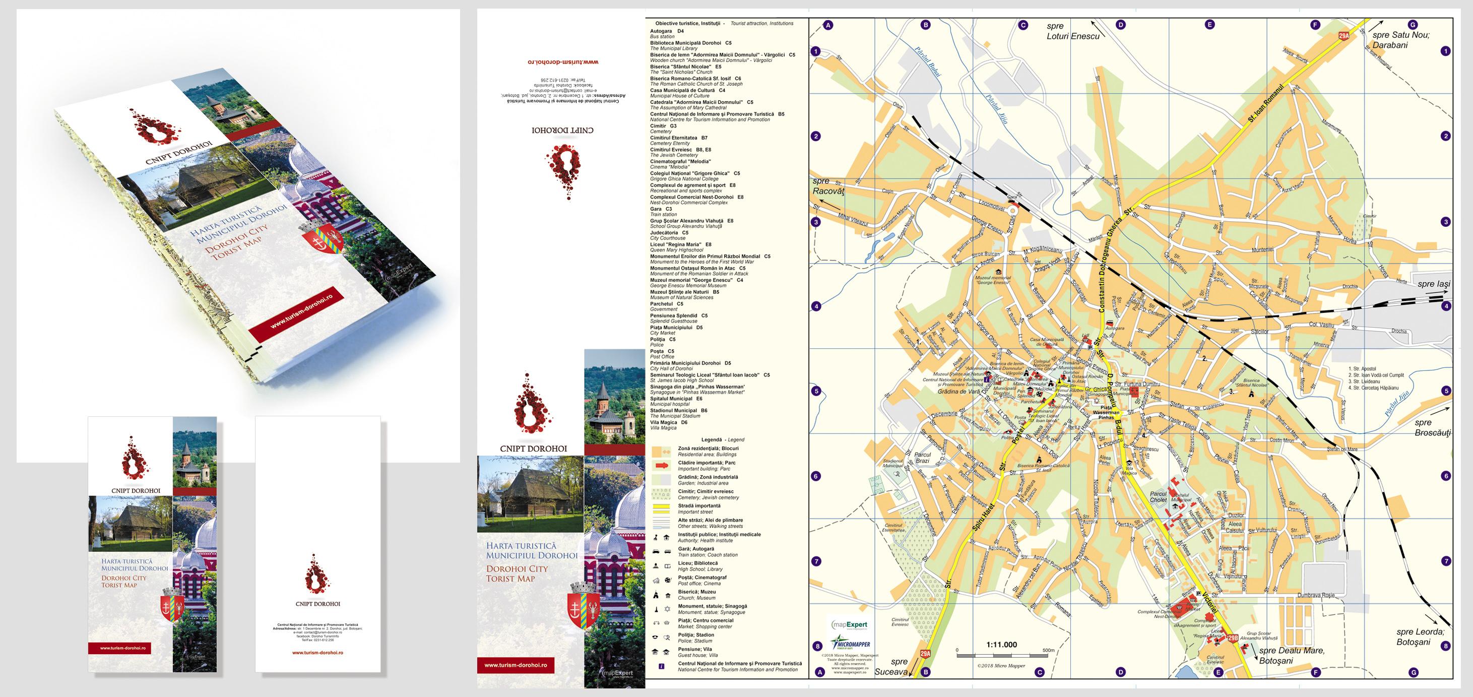 Harta Turistică Dorohoi Mapexpert Group