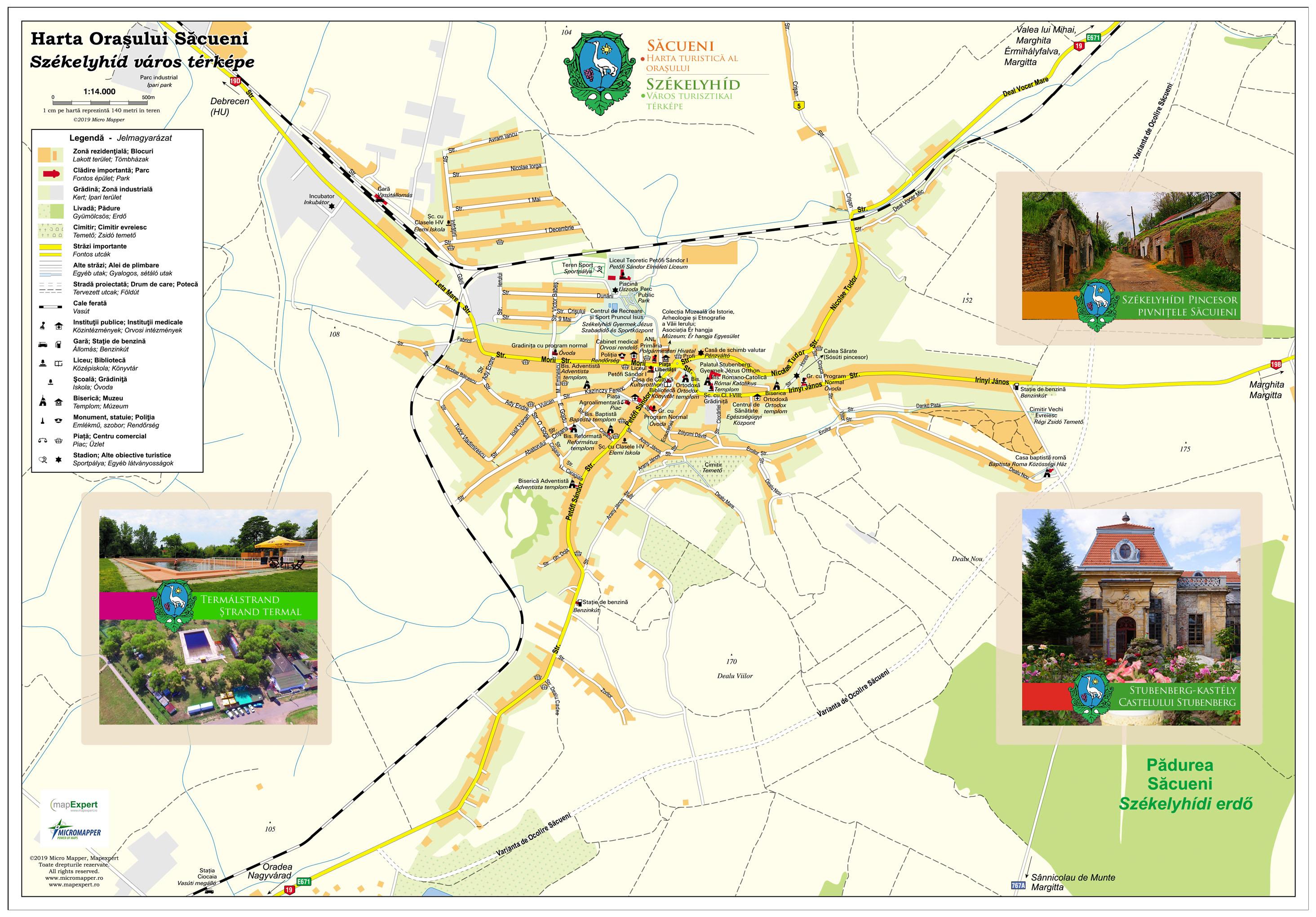 Harta Turistică Săcueni Mapexpert Group